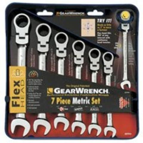 Gearwrench 9900 Flex Head Combination Ratcheting Wrench Set, 7 Piece