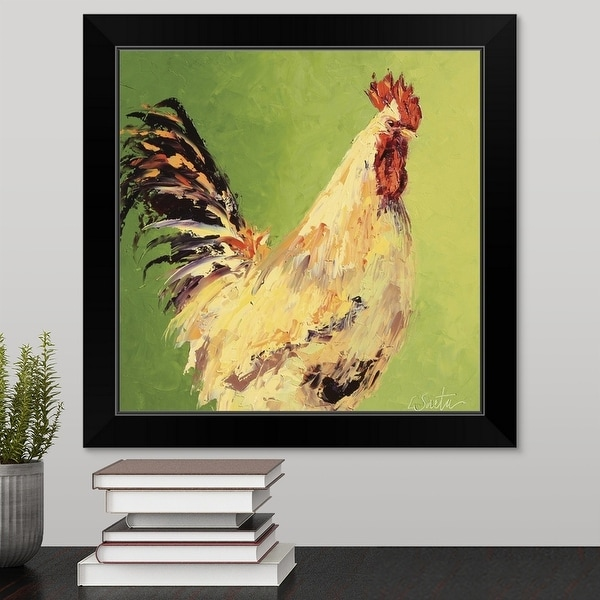 """Fall Rooster"" Black Framed Print"