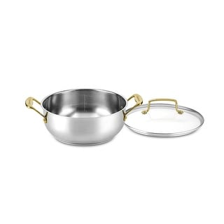 Link to Cuisinart C7M44-24GD Mineral Collection 4 Quart Dutch Oven with Cover, Stainless Steel Similar Items in Cookware