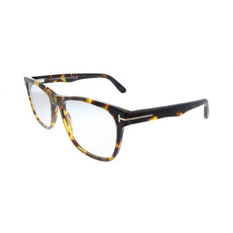 Tom Ford Soft FT 5662-B 056 54mm Unisex Shiny Vintage Havana Frame Eyeglasses 54mm