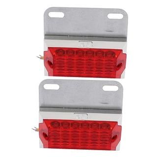 Unique Bargains 2pcs 24V Red Pickup Car Truck Trailer LED Side Marker Lights Lamps Interior