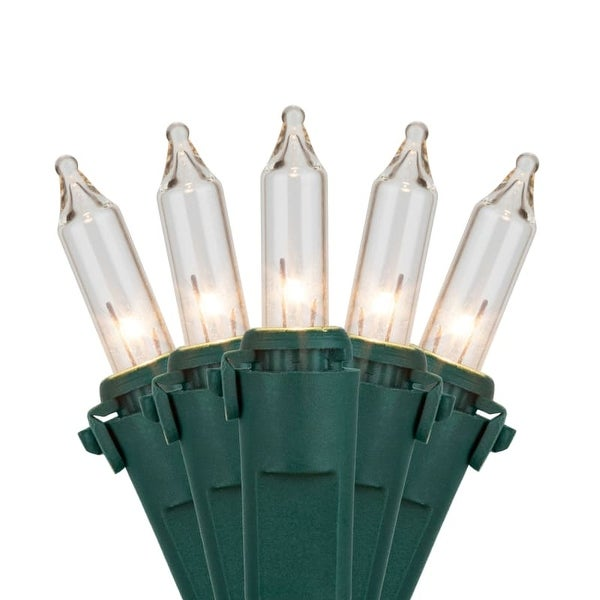 """Wintergreen Lighting 15227 75.5' Long Outdoor Commercial 200 Mini Light Holiday Light Strand with 4.5"""" Spacing and Green Wire"""