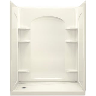 """Sterling 72180110  Ensemble 60"""" 4 Piece Shower Module with Left Hand Drain and Integrated Shelves"""