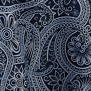 "60"" x 120"" Blue Traditional Paisley Umbrella Decorative Rectangular Tablecloth"