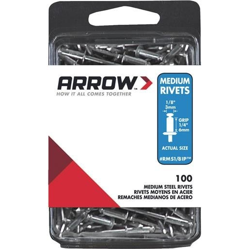 Arrow Fastener 1/8X1/4 Stl Rivet RMS1/8IP Unit: BOX