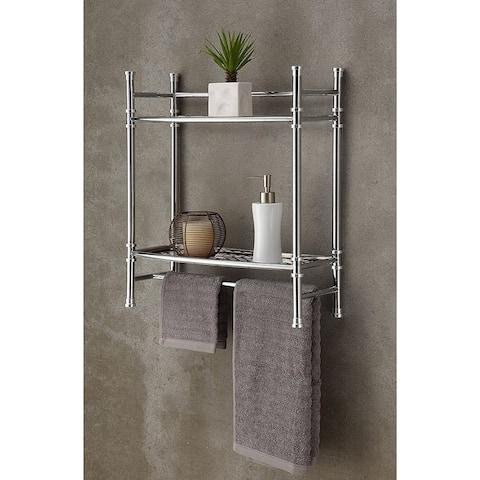Wall Mount/Countertop Shelf, Chrome