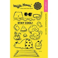 """Waffle Flower Crafts Clear Stamps 4""""X6""""-Stay Cool"""