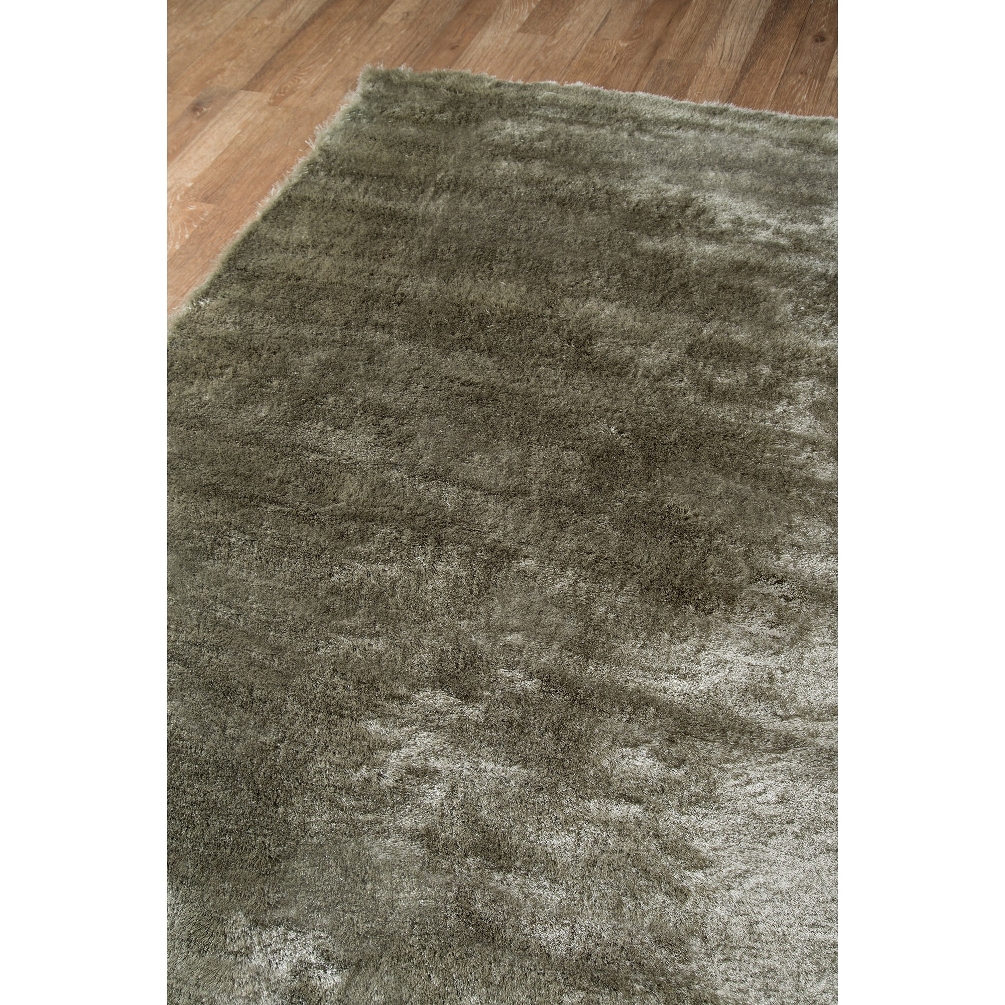 Hand Tufted High Pile Shag Area Rug Momeni Rugs LSHAGLS-01GRY2380 Luster Shag Collection 23 x 8 Runner Grey