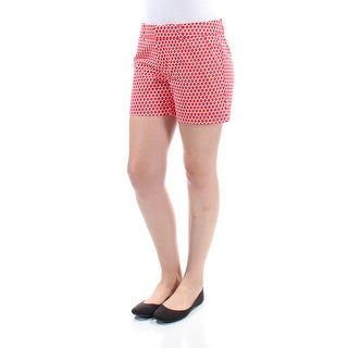 Womens Red Geometric Short Size 4