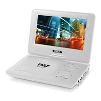 9'' Portable CD/DVD Player, Built-in Rechargeable Battery, USB/SD Card Memory Readers (White)