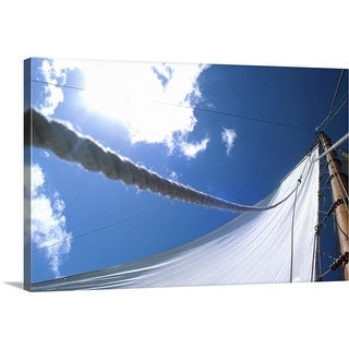 """sail of sailing boat"" Canvas Wall Art"