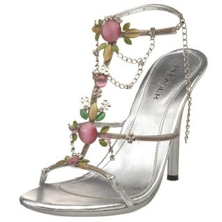 Pleaser Womens Eclair 26 Faux Leather Embellished Dress Sandals