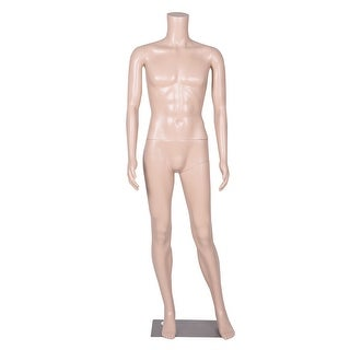 Costway Headless Male Mannequin Plastic Realistic Display Dress Form Full Body w/ Base