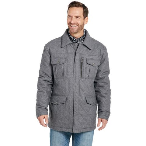 Cripple Creek Western Coat Mens Quilted Patch Ash Gray - Ash Gray