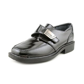 Kenneth Cole Reaction Fast Cash 2 Youth Square Toe Leather Black Loafer