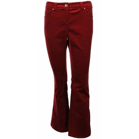 Sutton Studio Women's Bootcut Velvet Jeans - Chili