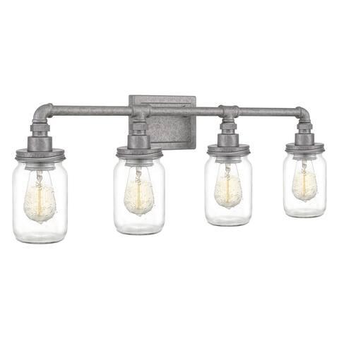Quoizel Squire Galvanized 4-light Bath Light