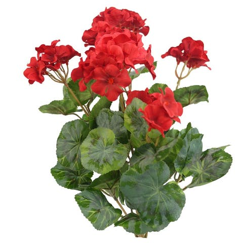 ABN5B007-RD Artificial Flowers and Mixed Bush - Stems Arrangement - Red - 20