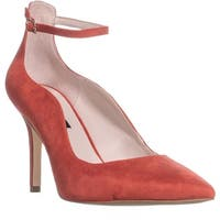 Nine West Marquisa Pointed Toe Ankle Strap Heels, Red