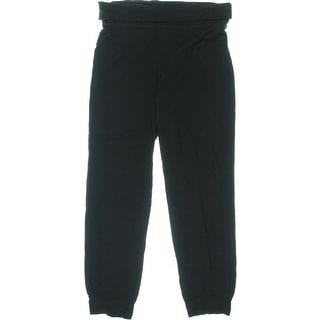 Jenni by Jennifer Moore Womens Lizzy Fold-Over Knit Yoga Pants