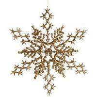 "Gold - Glitter Snowflake 6.5"" 6/Pkg"