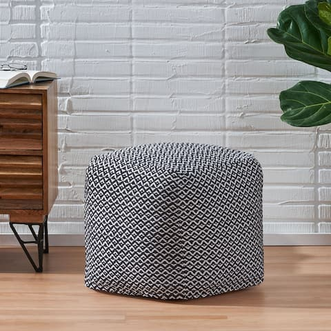 Ayre Boho Fabric Cube Pouf by Christopher Knight Home
