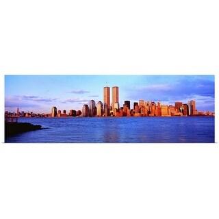 """New York City, skyline with World Trade Center"" Poster Print"