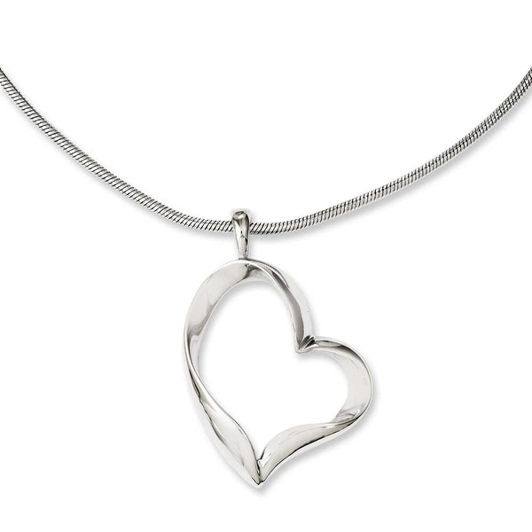 Chisel Stainless Steel Polished Fancy Heart 20in Necklace (2 mm) - 20 in