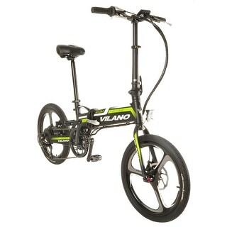 Vilano ATOM Electric Folding  Bike, 20-Inch Mag Wheels - grey