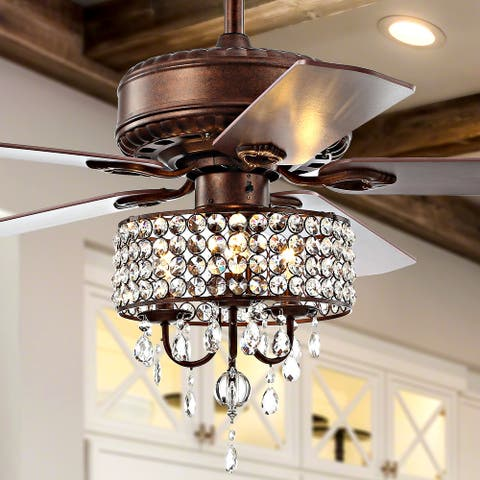 Becky LED Chandelier Fan With Remote by JONATHAN Y