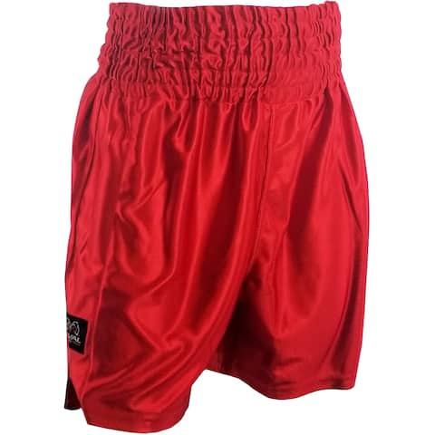 Rival Boxing Dazzle Traditional Cut Competition Boxing Trunks - Red