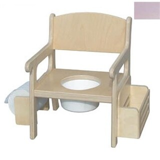 Handcrafted Potty Chair with Accessories in Soft Pink