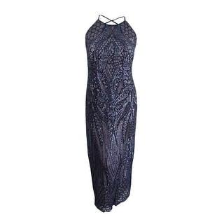 ed8874d05b4 Nightway Womens Plus Sequin Cross-Back Gown Dress