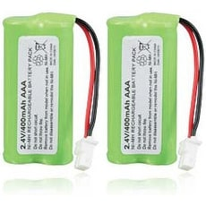 Replacement VTech CS6124 / CS6519-16 NiMH Cordless Phone Battery - 700mAh / 2.4v (2 Pack)