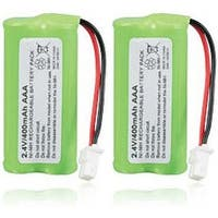 Replacement VTech CS6649 / CS6128-31 NiMH Cordless Phone Battery - 700mAh / 2.4v (2 Pack)