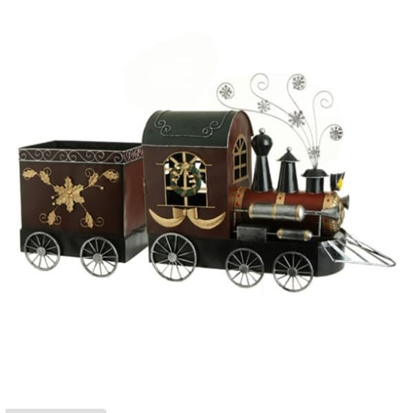 "41"" Rustic Red Vintage Style Locomotive Train Christmas Decoration"