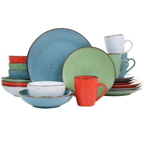 Elama Evelyn 20 Piece Color Dinnerware Set for 4 in Assorted Color