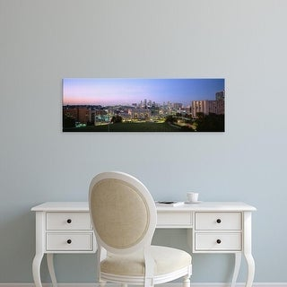 Easy Art Prints Panoramic Images's 'High Angle View Of A City Lit Up At Dusk, Kansas City, Missouri, USA' Canvas Art