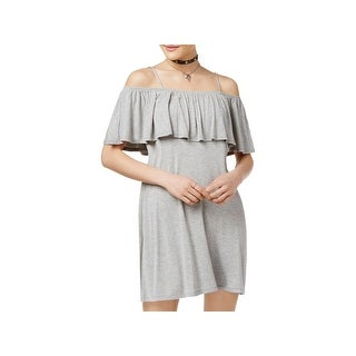 No Comment Womens Juniors Party Dress Off-The-Shoulder (3 options available)