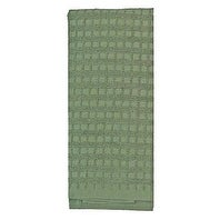 7371 16 x 26 in. Leaf Green 100 Percentage Cotton Kitchen Towel, Pack Of 3