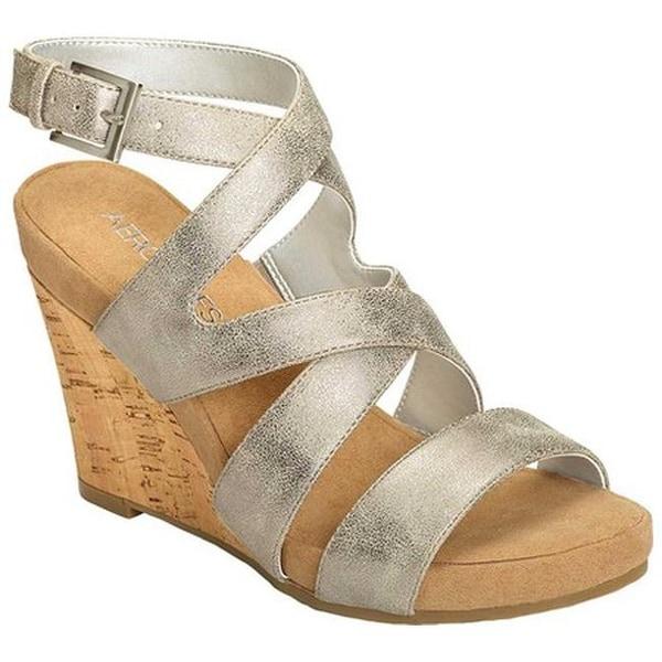 9b955d7321bd Aerosoles Women  x27 s Silver Plush Gladiator Sandal Silver Metallic Faux  Leather