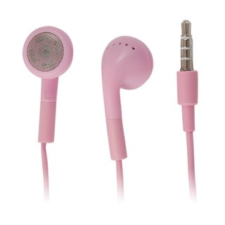 3.5mm Plug In Ear Earphone Earbuds Pink for MP4 MP3 PC