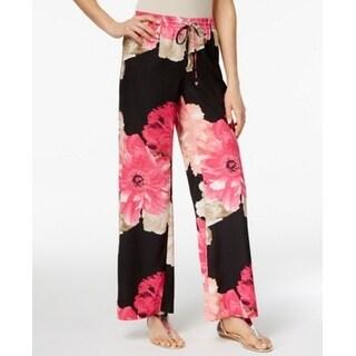Calvin Klein NEW Black Wide Leg Women's Size Large L Casual Pants
