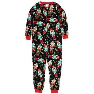 secret treasures womens christmas holiday nutcracker dropseat pajama union suit one piece sleepwear - Juniors Christmas Pajamas