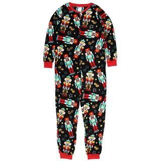 secret treasures womens christmas holiday nutcracker dropseat pajama union suit one piece sleepwear