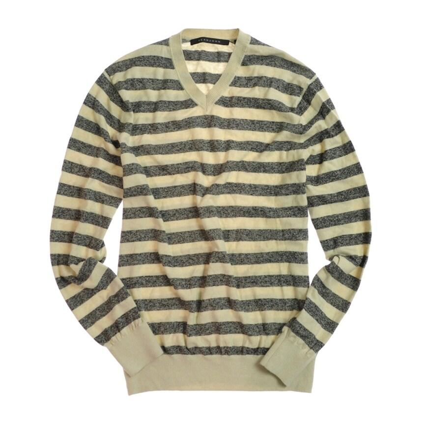 Sean John Mens Printed Wool Pullover Knit Sweater