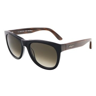 Salvatore Ferragamo SF685S 001 Black Wayfarer sunglasses - 52-19-140
