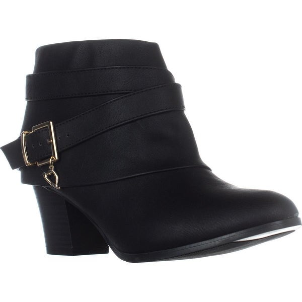 TS35 Teca Cuffed Ankle Boots, Black