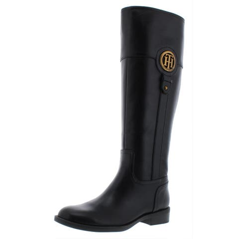 Tommy Hilfiger Womens Ilia 4 Riding Boots Leather Logo