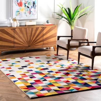 nuLOOM Contemporary Triangle Mosaic Multi Area Rug